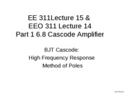 L15Part1 BJT Cascode High Freq Method of Poles_1
