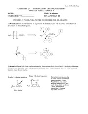 CHEM 231 Practice Test 2B Solutions