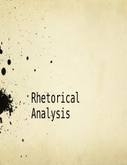 Rhetorical Analysis.ppt