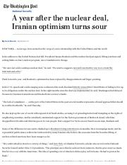 A year after the nuclear deal, Iranian optimism turns sour - The Washington Post.pdf