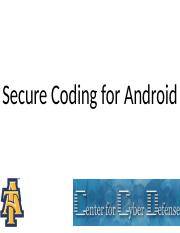 Secure coding for Android COMP365 (1)