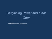 bargaining power introduction 2011 posted