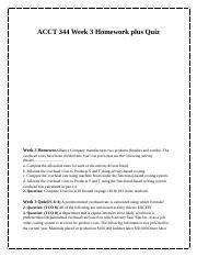 ACCT 344 Week 3 Homework plus Quiz