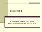 302A pp Section 5.1 Fractions