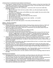 PSYCH 1010 TEST ONE NOTES (Autosaved)