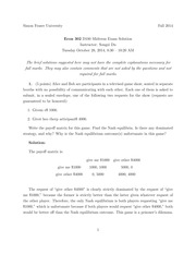 ECON 302 Fall 2014 Midterm Exam Solutions