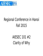 [ReCo Fall 2015] AIESEC Way.pptx