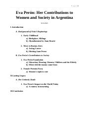Eva Perón and Argentina-Final.docx