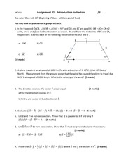 assignment 1 intro to vectors