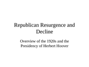 Republican Resurgence and Decline