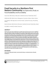 Food security in a Northern First Nations Community.pdf