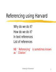 Introduction to Harvard Referencing 2016