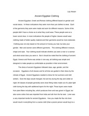 Ancient clothing essay 2