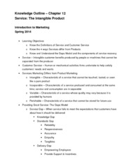 Chapter 12 Knowledge Outline