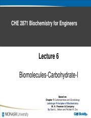L6 Biomolecules-Carbohydrate -I