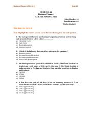Business Finance - ACC501.doc