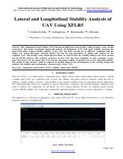 Lateral and Longitudinal Stability Analysis of UAV Using Xflr5-1163