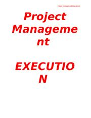 Project Management Execution.docx