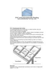 Pvc And Polycarbonate Roofing