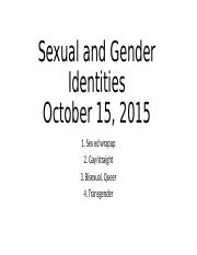 Lecture 15_Sexual and Gender Identities