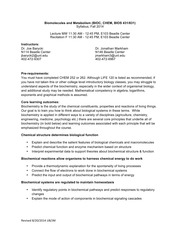 BIOC 431 syllabus Fall 2014