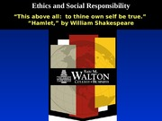 Blaw 2013: Ethics and Social Responsibility