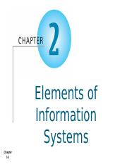 AIS - Chapter 2 - Elements of Information Systems - Student.pptx