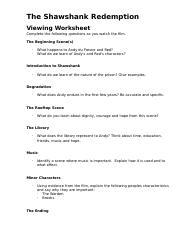 Viewing+Worksheet.doc - The Shawshank Redemption Viewing ...