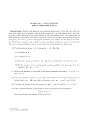 MATH241 Exam 1 (Wentworth Fall 2008)