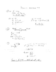 Dynamics Worksheet 1 Solutions