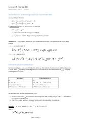 Lecture 9 - nonhomogeneous 2nd ODE, undetermined coefficient, variation of parameter
