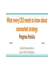 Sesion 9 - What every CEO needs to know about nonmarket strategy.pptx