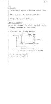 KING FAHD UNIVERSITY CHEMICAL ENGINEERING COURSE NOTES (Process Control)-handout to Lec25