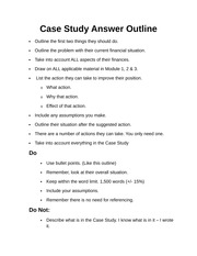 Case study answer guide