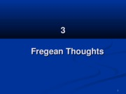 3 Fregean Thoughts