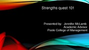 Strengths quest 101