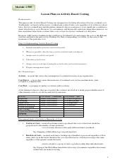 MODULE 1.500--ABC COSTING     HAND-OUTS