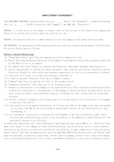 sample of EMPLOYMENT AGREEMENT