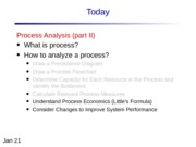 Lecture 3 Process Analysis 2