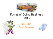 J11 MGT 401 - Forms of Doing Business Pt2