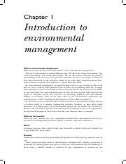 environmental introduction