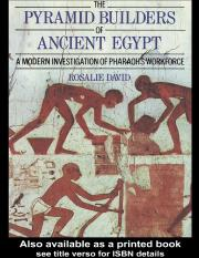 The Pyramid Builders of Ancient Egypt - (Malestrom)
