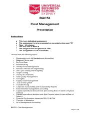 BAC51 Cost Management Presentation.docx
