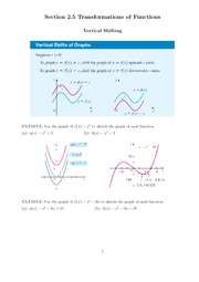 Section_2.5-Transformations of Functions