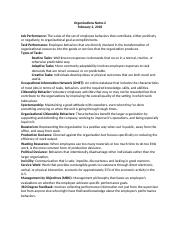 Organizations 330 Notes Chapter 2