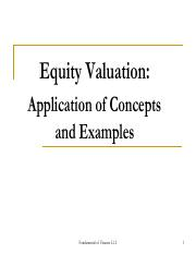 Lecture+15+Equity+Valuation+applications