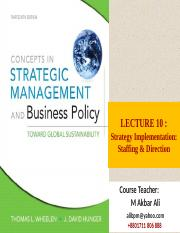 NEW Strategy Formulation Corporate Strategy ppt - LECTURE 06