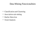 MiningFunctionalities