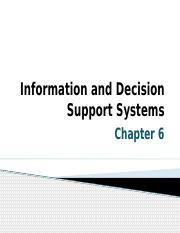 INFORMATION AND DECISION SUPPORT SYSTEM