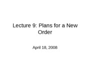 041808 Lecture9_Toward_New_Order